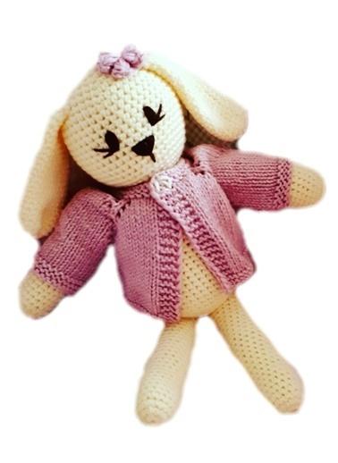 Damla Oyuncak Damla Oyuncak Tavşan Örgü Peluş Oyuncak Renkli